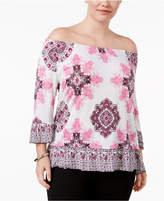 INC International Concepts Plus Size Off-The-Shoulder Top, Created for Macy's
