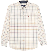 Joules Wilby Oxford Check Shirt, Cream Multi Check