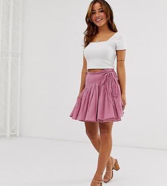 Asos DESIGN Petite cheesecloth wrap mini skirt