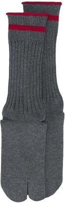 Maison Margiela Tabi toe ribbed socks