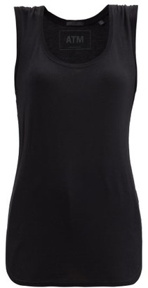 ATM - Scoop-neck Jersey Tank Top - Black