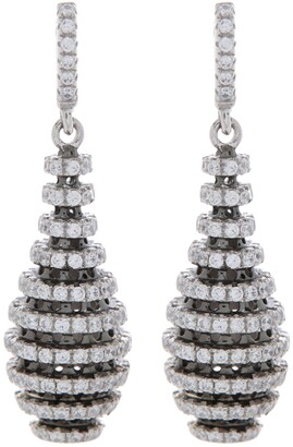 Breuning Cone Shaped Crystal Drop Earrings