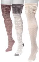 Muk Luks Microfiber Over-the-Knee Socks - 3 Pairs
