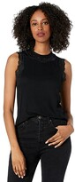 Thumbnail for your product : Rock and Roll Cowgirl High Neck Rib Tank with Lace Keyhole 49-9911