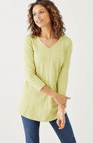 J. Jill Buttoned-Sleeve Tunic