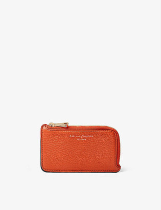 Aspinal of London Zipped leather coin and card holder