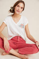 Anthropologie Feminist Embroidered Tee