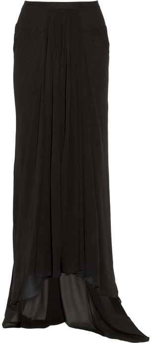 Rick Owens Mermaid silk-georgette maxi skirt
