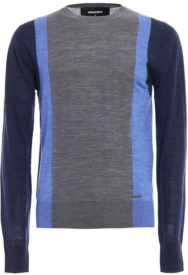 DSQUARED2 Colour Block Wool Sweater