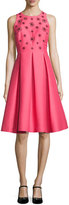 Kate Spade Pleated Beaded Taffeta Cocktail Dress, Pink