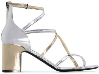 Fabrizio Viti Two-Tone 65mm Metallic Sandals