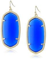 "Kendra Scott Signature"" Danielle Gold plated Cobalt Glass Drop Earrings"
