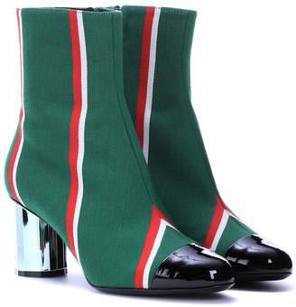 Marco De Vincenzo Striped ankle boots