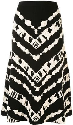 Proenza Schouler White Label Jacquard-Pattern Mid-Length Skirt