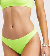 Weekday Sun bikini bottoms in acid green