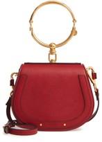 Chloé Small Nile Bracelet Leather Crossbody Bag - Red