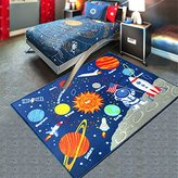 ZXDG-kids childrens planet solar system rugs carpets for children's room (100X130cm(3.2X4.2ft), Outer space)