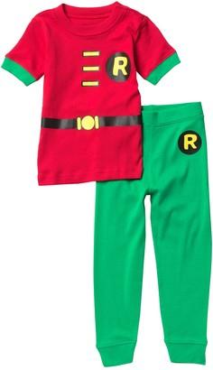 Intimo Robin Short Sleeve T-Shirt & Pants Pajama Set (Baby & Toddler Boys)