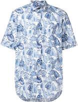 Corneliani tropical print shirt