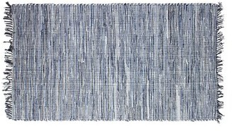 """French Connection Halima Hand-Knotted Cotton Blue Area Rug Rug Size: Rectangle 2'4"""" x 4'"""