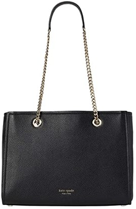 Kate Spade Amelia Pebble Large Tote (Black) Handbags