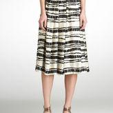 Rachel Roy Bamboo Print Pleat Skirt