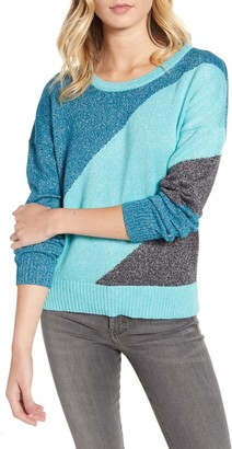 Wildfox Couture Sydney Metallic Colorblock Knit Sweater