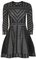 Topshop Geometric Pattern Fit And Flare Knitted Dress