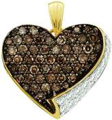 DazzlingRock Collection 0.85 Carat (ctw) 10k Yellow Gold & White Diamond Ladies Heart Pendant