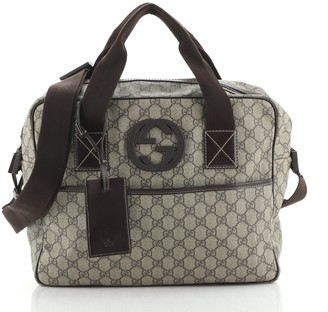 Gucci Interlocking G Briefcase GG Coated Canvas Large