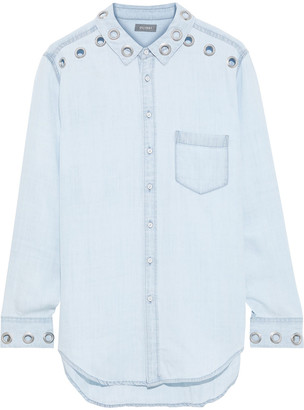 DL1961 Eyelet-embellished Tencel-chambray Shirt