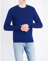 Ps By Paul Smith Blue Embroidered Logo Jumper
