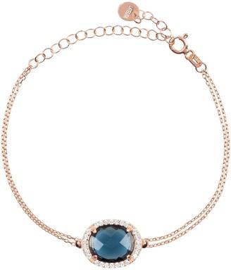 Latelita Beatrice Oval Gemstone Bracelet Rose Gold Sapphire Hydro