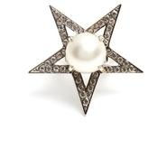 Miu Miu Star faux-pearl and crystal-embellished ring