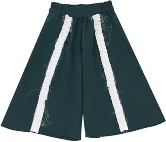 Crepe De Chine Pants W/ Ruffles