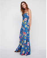 Express floral tie front cut-out maxi dress