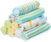 SpaSilk 10-Pack Washcloth Set in Yellow Lines