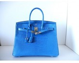 Hermes pristine (PR Mykonos Matte Alligator 35cm Birkin Bag with Palladium Hardware