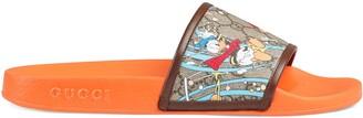 Gucci Men's Disney x Donald Duck slide sandal