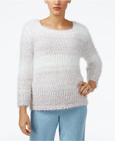 Alfred Dunner Petite Northern Lights Ombré Textured Sweater