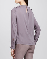 J Brand Ready to Wear Federica Fold-Shoulder Top
