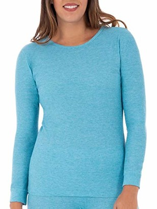 Fruit of the Loom Women's Plus Size Waffle Thermal Crew Top