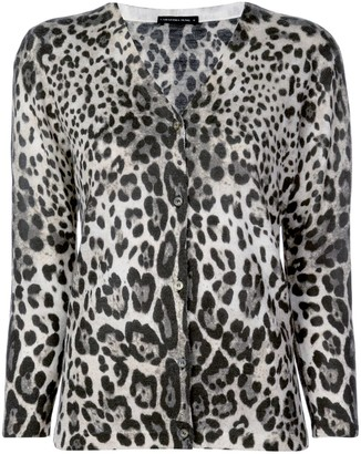 Samantha Sung Charlotte leopard print cardigan