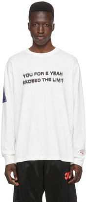 Adidas Originals By Alexander Wang Off-White Exceed The Limit Long Sleeve T-Shirt