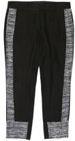 Derek Lam Tweed-Trimmed Cropped Pants