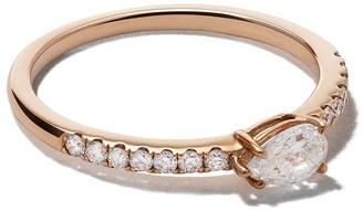 Anita Ko 18kt rose gold Sideways pear diamond ring