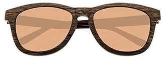 Earth Wood Cove Sunglasses W/Polarized Lenses - Zebrawood/Black