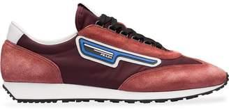 Prada suede and nylon sneakers