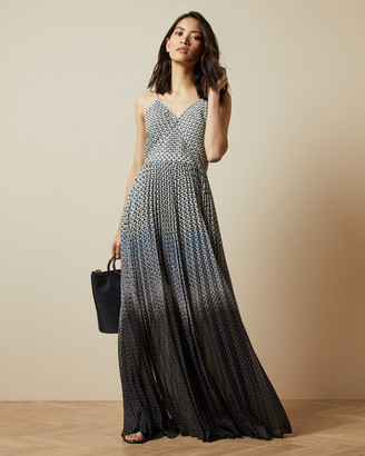 Ted Baker EDRA Masquerade pleated maxi dress