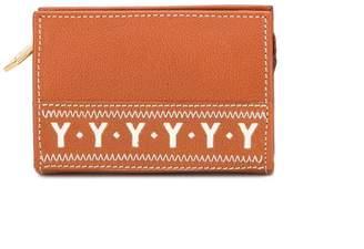 Saint Laurent Pre-Owned cut-out logo zipped wallet